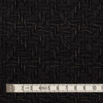 ウール&コットン×無地(ブラック)×ファンシーツイード サムネイル4