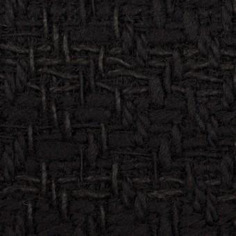ウール&コットン×無地(ブラック)×ファンシーツイード サムネイル1