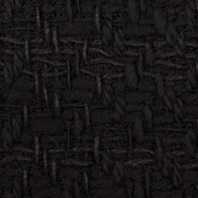 ウール&コットン×無地(ブラック)×ファンシーツイード イメージ1