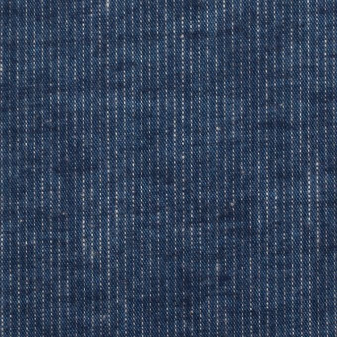 コットン×ストライプ(ネイビー)×シーチング イメージ1