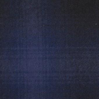 コットン×チェック(バイオレット&ダークネイビー)×フランネル