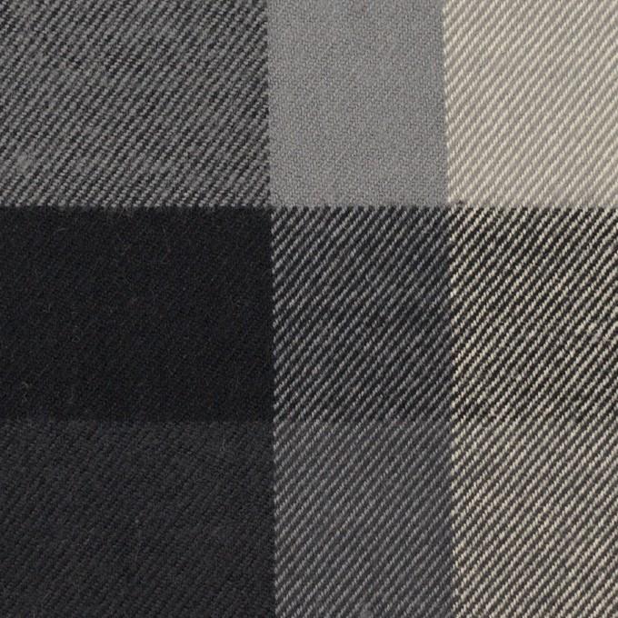 コットン×チェック(グレー&チャコール)×ビエラ イメージ1