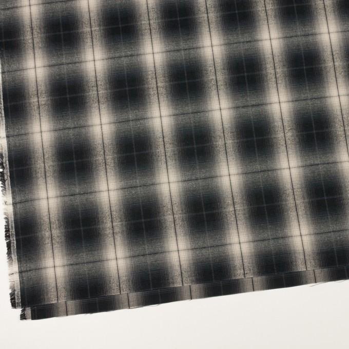 コットン×チェック(キナリ&チャコールブラック)×ビエラ イメージ2