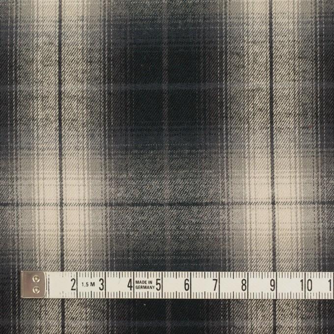 コットン×チェック(キナリ&チャコールブラック)×ビエラ イメージ4