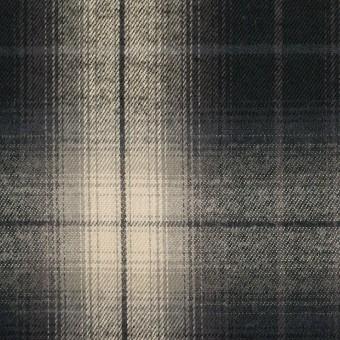 コットン×チェック(キナリ&チャコールブラック)×ビエラ