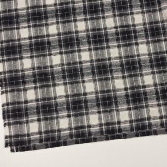 コットン×チェック(アイボリー&チャコールブラック)×フランネル サムネイル2