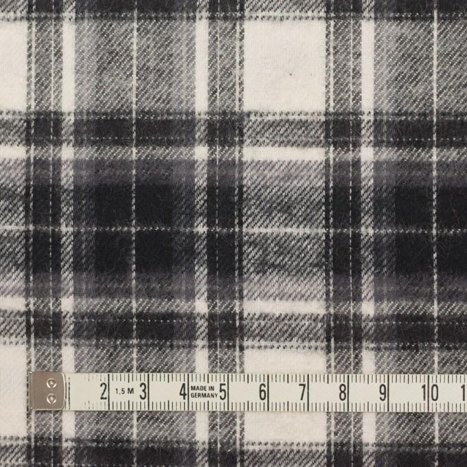 コットン×チェック(アイボリー&チャコールブラック)×フランネル イメージ4
