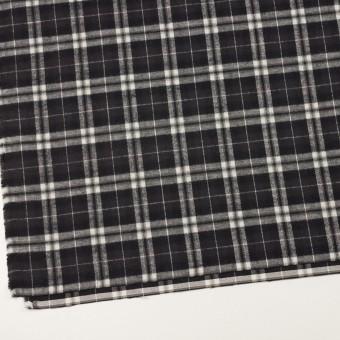 コットン×チェック(ブラック)×フランネル サムネイル2