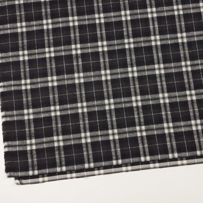 コットン×チェック(ブラック)×フランネル イメージ2