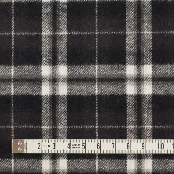コットン×チェック(ブラック)×フランネル イメージ4