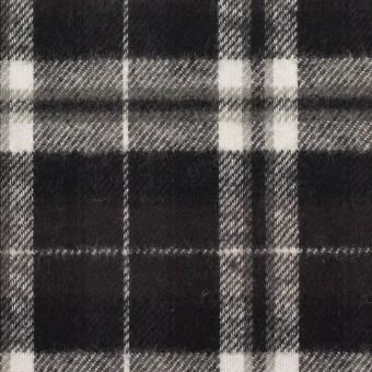 コットン×チェック(ブラック)×フランネル
