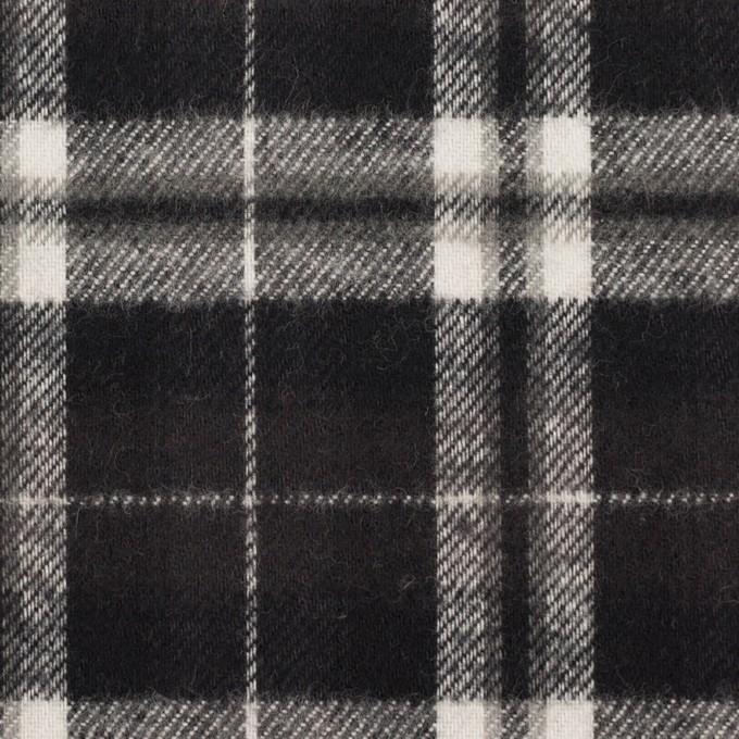 コットン×チェック(ブラック)×フランネル イメージ1