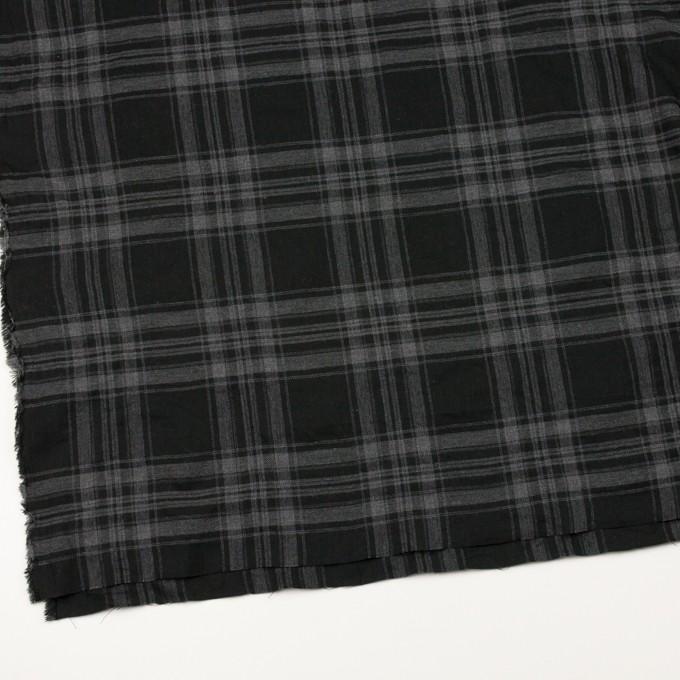コットン&ポリウレタン×チェック(グレー&ブラック)×ビエラ イメージ2