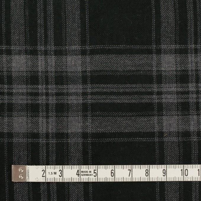 コットン&ポリウレタン×チェック(グレー&ブラック)×ビエラ イメージ4
