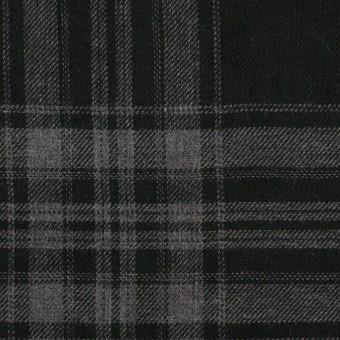 コットン&ポリウレタン×チェック(グレー&ブラック)×ビエラ