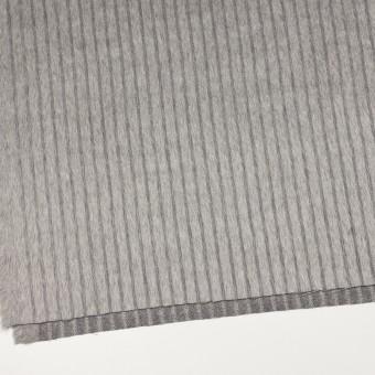 ウール×ストライプ(シルバーグレー)×シャギー サムネイル2
