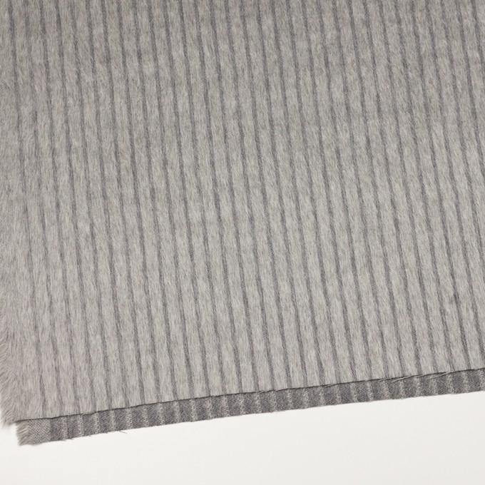 ウール×ストライプ(シルバーグレー)×シャギー イメージ2