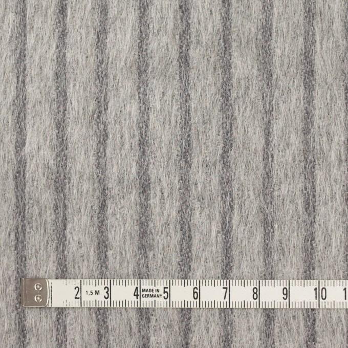 ウール×ストライプ(シルバーグレー)×シャギー イメージ4