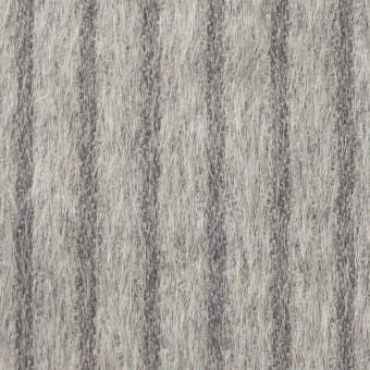 ウール×ストライプ(シルバーグレー)×シャギー サムネイル1