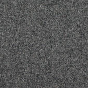 ウール×無地(チャコールグレー)×フラノ(フランネル)