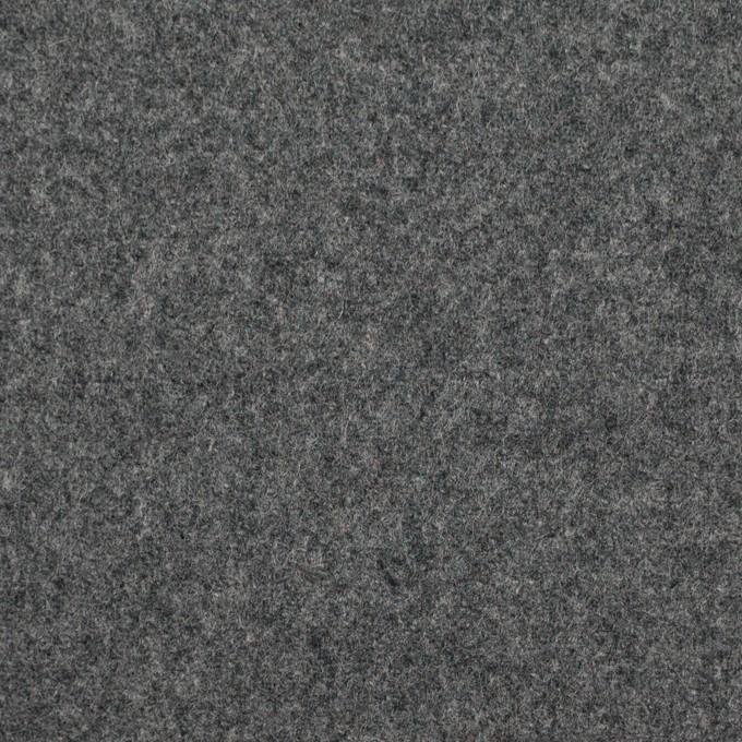 ウール×無地(チャコールグレー)×フラノ(フランネル) イメージ1