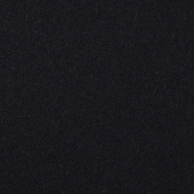 ウール×無地(ブルーブラック)×フラノ(フランネル) イメージ1