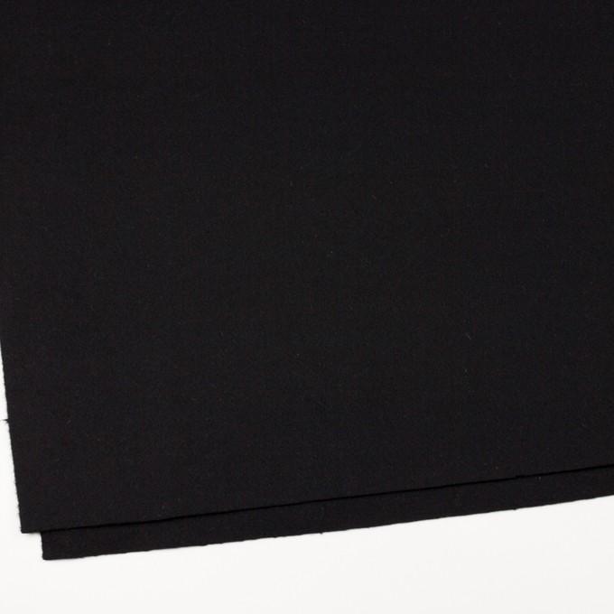 ウール×無地(ブラック)×メルトン イメージ2