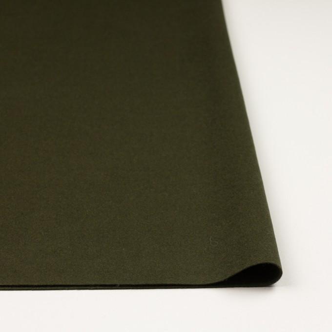 ウール×無地(カーキグリーン)×ビーバー イメージ3