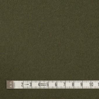 ウール×無地(カーキグリーン)×ビーバー サムネイル4