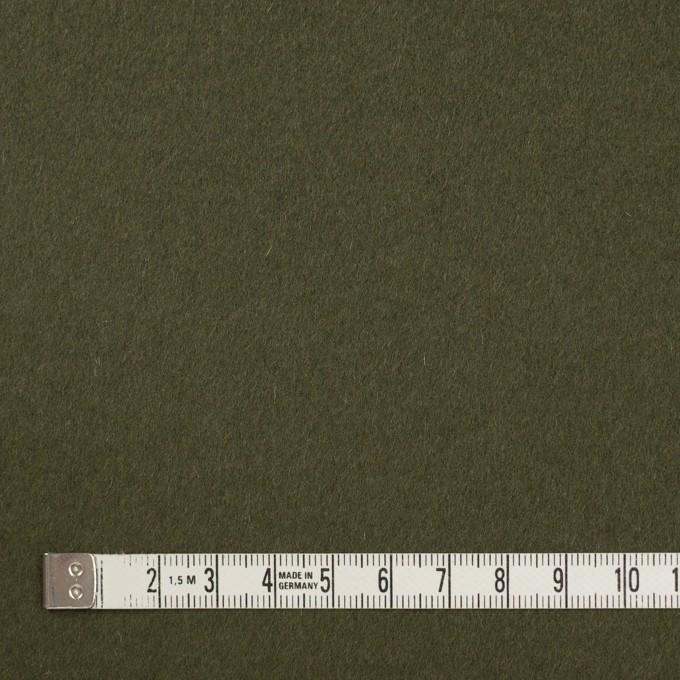 ウール×無地(カーキグリーン)×ビーバー イメージ4