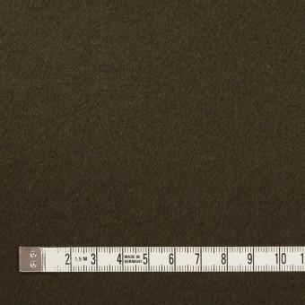 ウール×無地(ダークカーキブラウン)×ビーバー サムネイル4