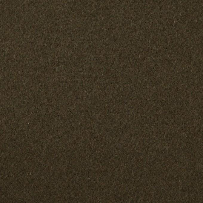 ウール×無地(ダークカーキブラウン)×ビーバー イメージ1