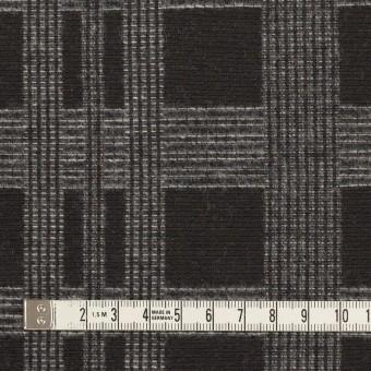 ウール&ポリエステル×チェック(チャコールブラック)×ジャガード サムネイル4