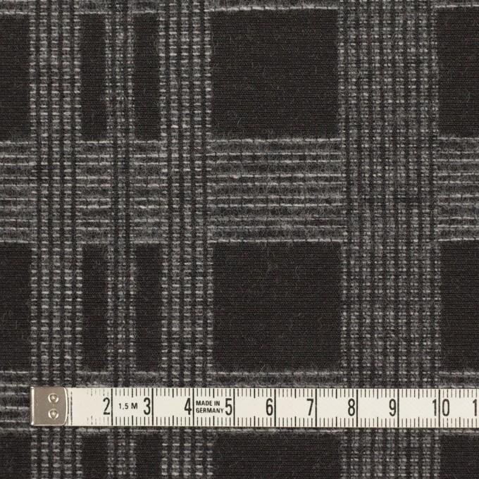 ウール&ポリエステル×チェック(チャコールブラック)×ジャガード イメージ4