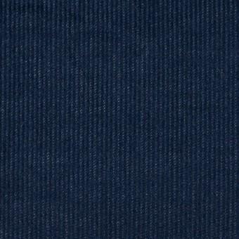 コットン&ポリウレタン×無地(ネイビー)×細コーデュロイ・ストレッチ サムネイル1