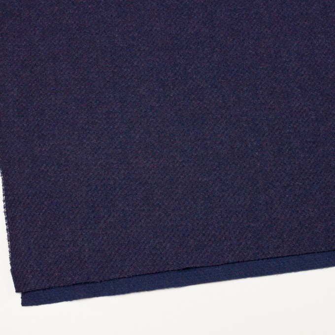 ウール×無地(グレープ)×かわり編み イメージ2