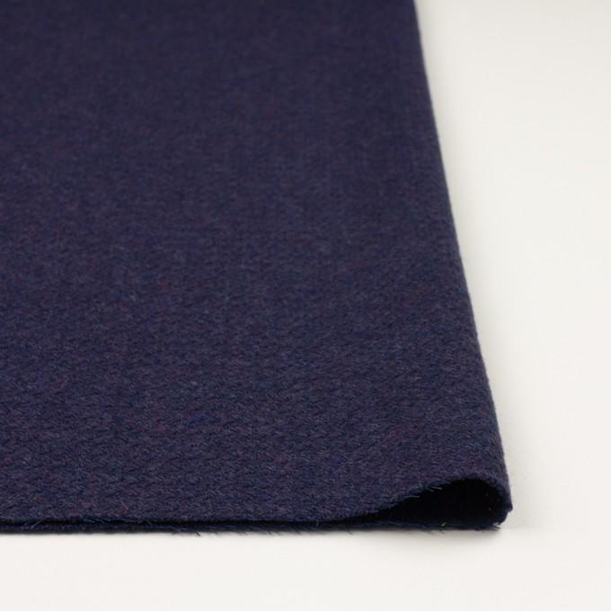 ウール×無地(グレープ)×かわり編み イメージ3