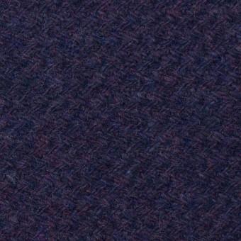 ウール×無地(グレープ)×かわり編み
