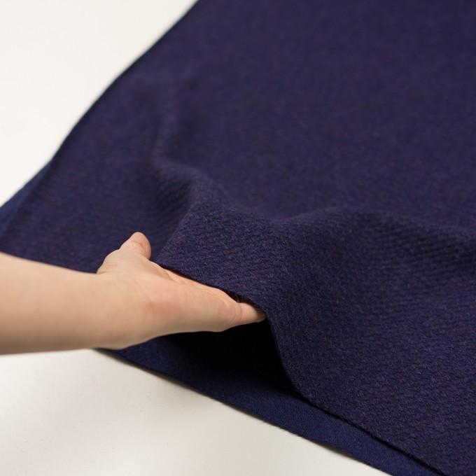 ウール×無地(グレープ)×かわり編み イメージ5