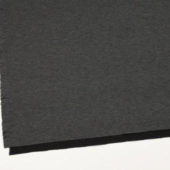 リヨセル&ナイロン混×無地(チャコールグレー&ブラック)×Wニット サムネイル2