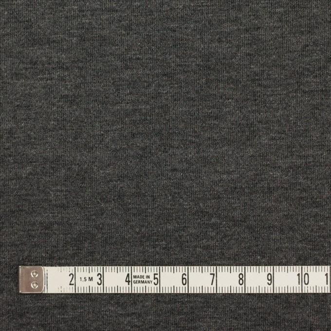 リヨセル&ナイロン混×無地(チャコールグレー&ブラック)×Wニット イメージ4