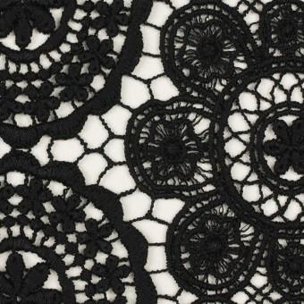 コットン×フラワー(ブラック)×ケミカルレース サムネイル1