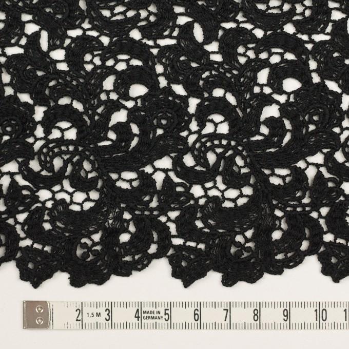 コットン×フラワー(ブラック)×ケミカルレース イメージ5