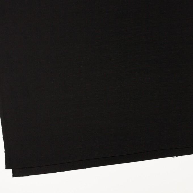 シルク×無地(ブラック)×Wシャンタン イメージ2