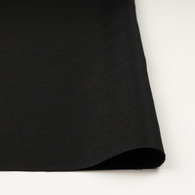 シルク×無地(ブラック)×Wシャンタン イメージ3