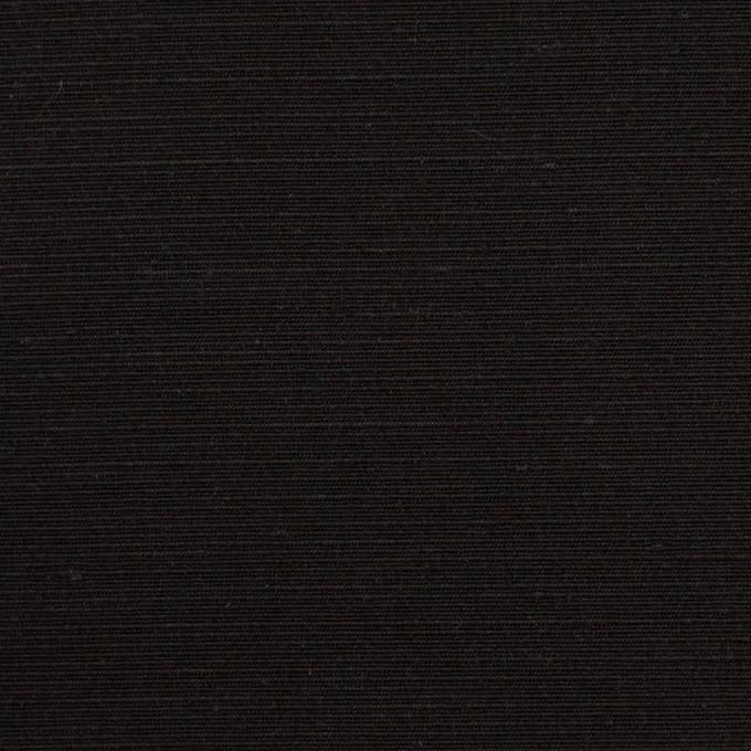 シルク×無地(ブラック)×Wシャンタン イメージ1
