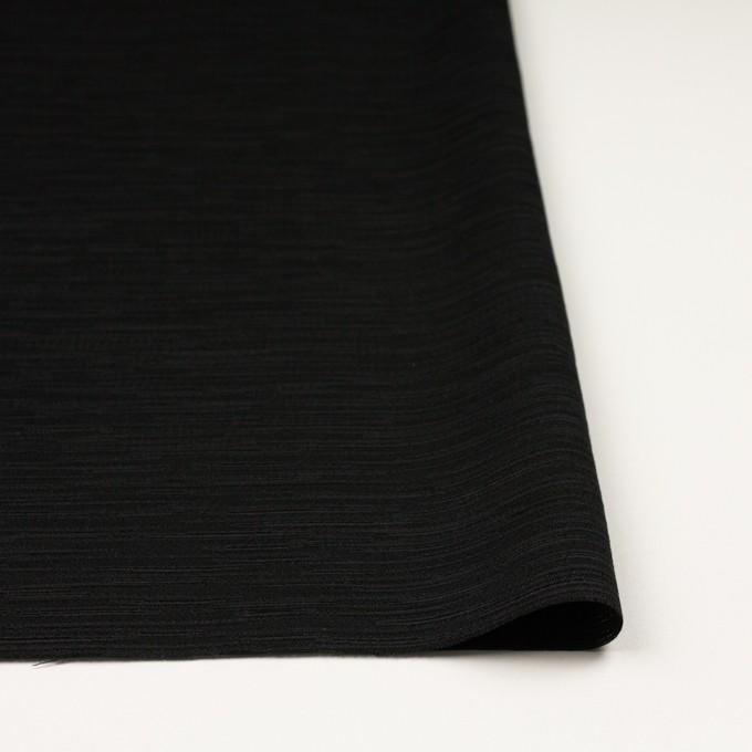 シルク&レーヨン×無地(ブラック)×シャンタン イメージ3