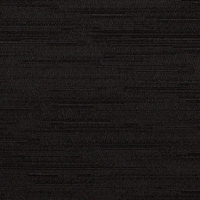シルク&レーヨン×無地(ブラック)×シャンタン イメージ1