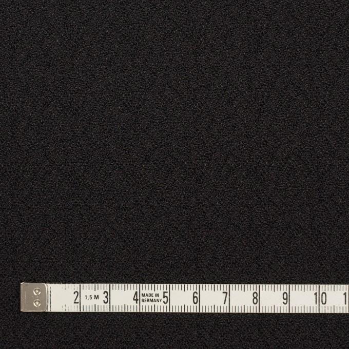 シルク&レーヨン×無地(ブラック)×ふくれジョーゼット イメージ4