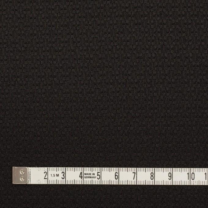 シルク&レーヨン×無地(ブラック)×かわり織 イメージ4